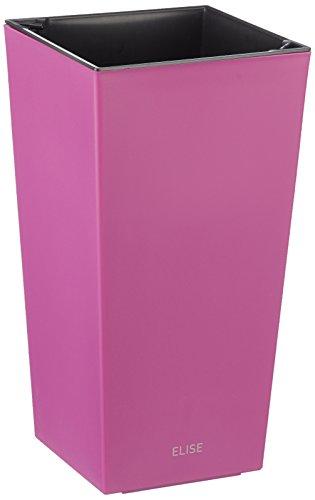 Plastkon Décoration Pot en de et Outdoor Pot Elise Mat Fuchsia/Rouge 25 cm
