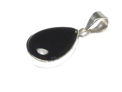 BOPT0406171 Pendentif en argent sterling 925 avec onyx noir