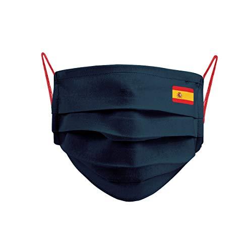 Cencibel Smart Casual Mascarilla Bandera España Pequeña y Gomas Laterales Rojas