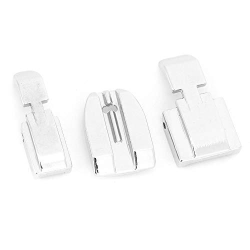 Prensatelas para cremalleras de forma pequeña, prensatelas para coser, 3 piezas ajustables para máquinas de coser de uso doméstico Singer, industria de costura