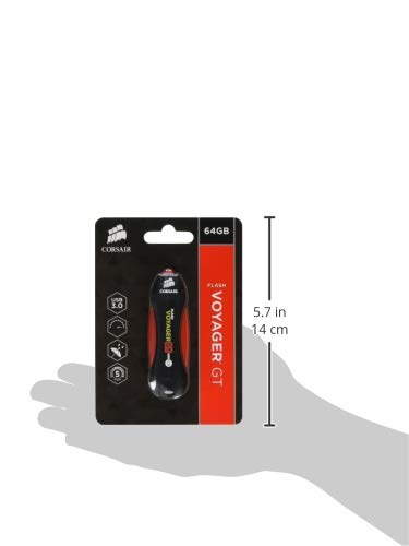Corsair Voyager GT Unidad Flash USB 64 GB USB Tipo A 3.2 Gen 1 (3.1 Gen 1) Negro, Rojo