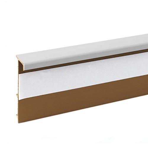2,5m TEPPICHLEISTEN 50mm HELLGRAU Kettelleisten aus Kunststoff Fussbodenleiste Laminat Dekore Parkett Scheuerleiste