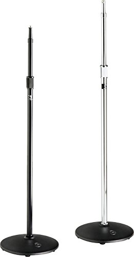 ATLAS SOUND MS20E Heavy Duty Microphone Stand, Iron Base, Black