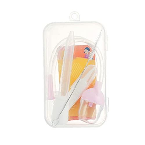 Cuidado Personal Y Productos Para Bebés Inicio Aspirador Nasal Conjunto De Seguridad Recién Nacido Nariz Aspiradora De Succión Booger Remover Con Feeding 1 Juego De Plástico Transparente Cuentagotas