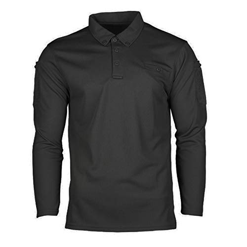 Mil-Tec Tactical Quick Dry Poloshirt 1/1 Arm schwarz Gr.XL