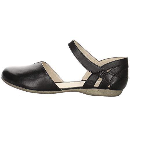 Josef Seibel Damen Ballerinas Fiona 67, Frauen Riemchenballerinas, elegant Women's Women Woman Freizeit leger Mary-Jane Lady,schwarz,39 EU / 5.5 UK
