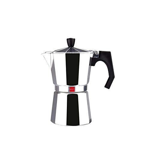 M MAGEFESA - Cafetera modelo KENIA de aluminio grueso - Pomo y Mangos ergonómicos de baketila toque frio, 12 Tazas