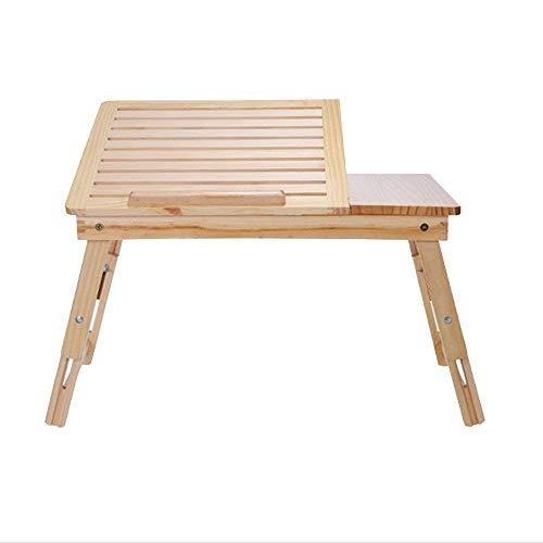 KANJJ-YU Escritorio plegable para ordenador portátil, dormitorio familiar, mesa de cuna simple, escritorio para estudiantes, altura ajustable para ordenador portátil, escritorio