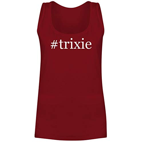 #Trixie - A Soft & Comfortable Hashtag Women's Tank Top, Red, Large