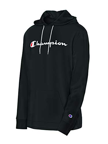 Champion Men's MIDDLEWEIGHT Hoodie, Black, Large
