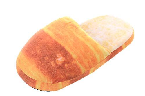 Kawaii-Story HS-05-2 Toast French Brot Weich Soft Damen Winter Pantoffeln Hausschuhe (35-38)