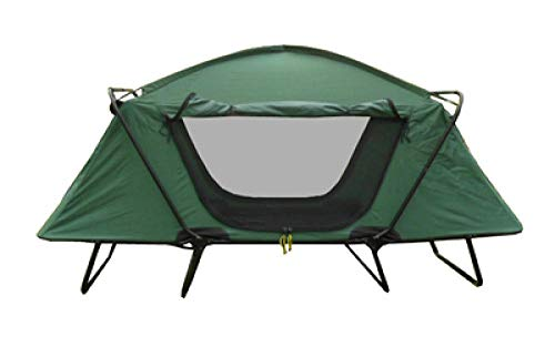 Car Tent Camping Tent Camping Gear Tent Outdoor Camping Rain-Proof Thickening Camping Double-Layer Cold-Proof Fishing Special Off-Ground Tent Anti-Storm Double-Dark Green (Single) 210*80*120Cm