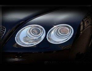 Mina Gallery Headlight Chrome Finisher Set for Bentley Flying Spur 2003-2009 models
