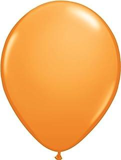 ゴム風船 Qualatexバルーン(ラウンド無地)オレンジ 16インチ(直径42cm) 50個入り/袋
