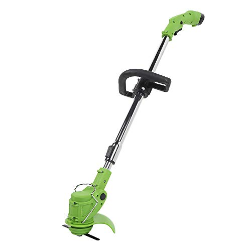 Review Of LQYGM Cordless Grass Trimmer Lawn Mower with Adjustable Handle Garden Grass Cutter Machine...