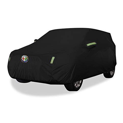 GSHWJS Car Car Cover voor binnen en buiten, Oxford doek, antifouling, zonwering, regenbescherming, warme afdekking voor Alfa Romeo Stelvio, terreinwagen, uv-modellen
