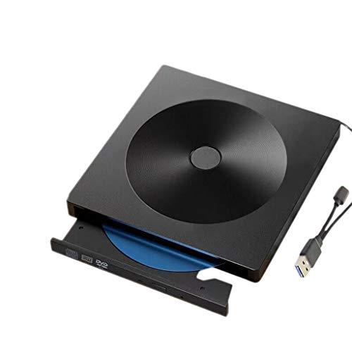 CD-ROM externa y el CD-ROM externa unidad USB 3.0 Tipo C USB 3.0 compatible con la unidad óptica DVD-RW W para Mac/Windows,Negro