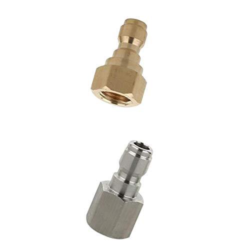 Generic 2X Hochdruckreiniger Adapter Steckverbinder Kupplung Heavy Duty D + B.