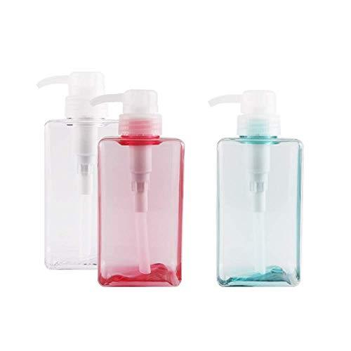 3 Piezas frascos vacíos rellenables de 450 ml Botellas dispensadoras de jabón con Bomba de líquidos para aceites Esenciales, lociones, champús, jabón de Manos, Recipiente de Viaje