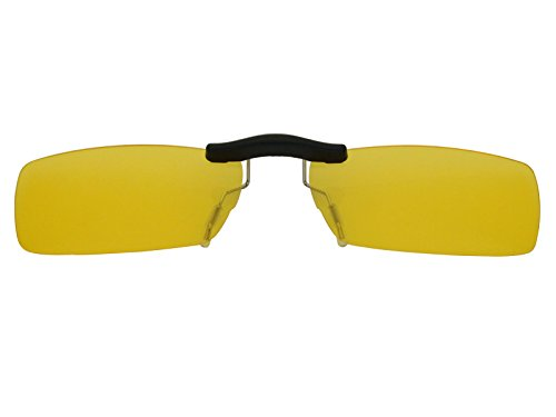 Custom Fit Polarized CLIP-ON Sunglasses For Ray-Ban RB6182 53X17 HD Yellow