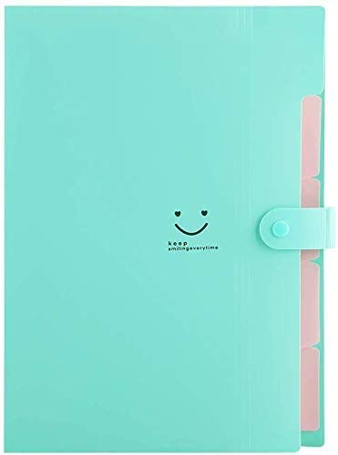 Sooez 4 Pack Expanding File Folders, Accordion Folders Plastic Folders Expanding Folders A4 Letter Size Document Organizer with File Folder Labels(Multicolored) Photo #5