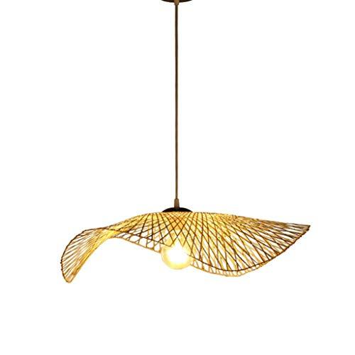 DTDD Rattan Island Lámpara Colgante Vintage Retro Lámpara Colgante de Techo Lámpara de Arte Tejida Sombrero de Paja Pantalla de lámpara Tejida a Mano Accesorio de iluminación Mesa de Comedor Lámp
