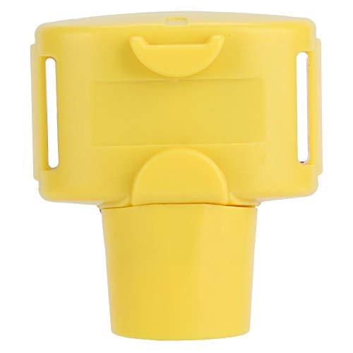 Weikeya Collar de Caza Continua, Collar de Choque de Perro Amarillo con plástico.