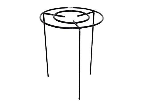 Grow Through Plant Support – Pack of 3 – Available in 4 sizes – Ideal for Agapanthus, Dahlia, Rudbeckia, Peonies, Lupin, etc - Strong Metal Garden Supports with 3 fixed legs for extra stability (Medium - 45cm high x 30cm diameter)