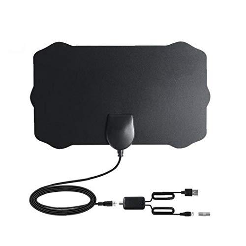Gracy Antena de TV Digital HDTV Cubierta Amplified Antenas TDT Arial 980 Millas de Alcance presión de la señal del Amplificador para los Canales Locales BlackVideo Y Familia