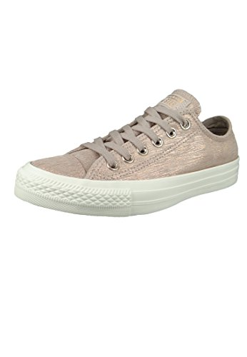 Converse Damen CTAS Ox Fitnessschuhe, Mehrfarbig (Diffused Taupe/Metallic Taupe 055), 37.5 EU