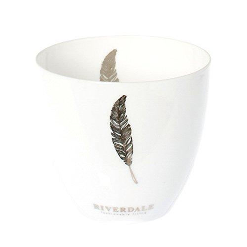 Riverdale Windlicht Feather Kupfer metallic - Feder 8 cm - Teelichthalter - Dekoidee - Lichtstücke - Geschenkidee