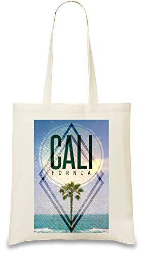 Kalifornien Strand - California Beach Custom Printed Tote Bag| 100% Soft Cotton| Natural Color & Eco-Friendly| Unique, Re-Usable & Stylish Handbag For Every Day Use| Custom Shoulder Bags By Josh God