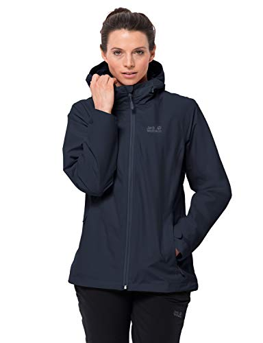 Jack Wolfskin Damen Norrland 3In1 Jacke, midnight blue, 4, 1110911, L