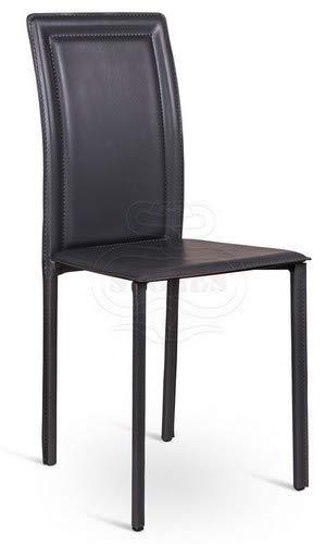 Stones Net Lot de 4 chaises, Cuir, Marron, 39 x 41 x 90 cm, 4 unités