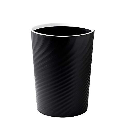 LHR Abfallsammler Europea Kreativer Nordic Hygienebehälter für Schlafzimmer, Artikel für Zuhause ohne Deckel mit Druckring Verwalter Büro Einfache Camera Transh S M grau