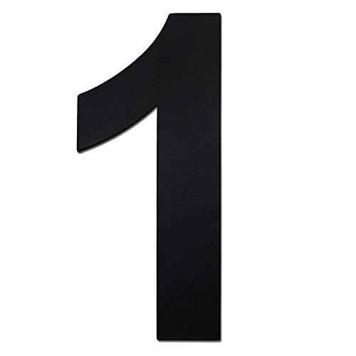 nanly Hausnummer Edelstahl selbstklebend aus SUS304, schwarze Hausnummer 10.2 cm/4in, dicke 2mm (schwarze-4in1)