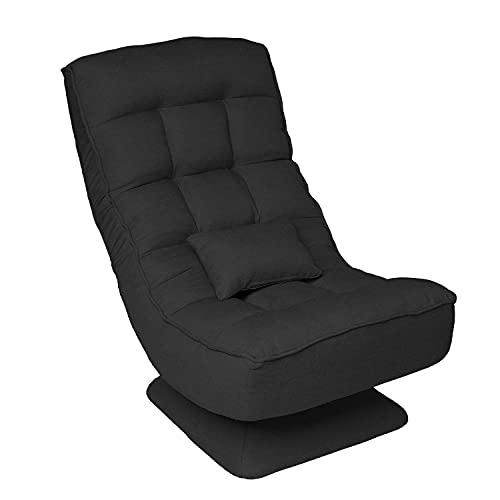 Gtracing Chair Gaming, um 360 Grad drehbare Videospielstühle, Klappboden-Gaming-Stuhl mit elektrischem Massagekissen und 4 verstellbaren Positionen, Lazy Boy Recliner Game Chairs für Erwachsene Teena