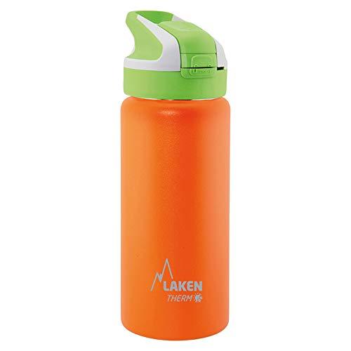 Laken Summit Bottiglia d'Acqua Doppia Parete Borraccia Termica e Isolante in Acciaio Inox con Tappo Sportivo 500ml Arancia