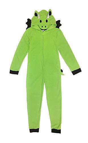 Under Disguise Kids & Big Kids Microfleece Costume Union Suit/Onesie, Dragon, 10-12 Yr