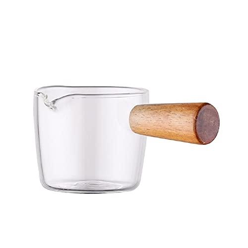 PPuujia Plato de sabor multifuncional para café, mini cacerola de leche, salsa, vinagre, salsa, barcos con asa, vajilla de estilo japonés H (color: S)