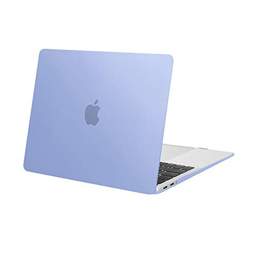 MOSISO Custodia Rigida Case 2020-2018 MacBook Air 13,3 Pollici Retina A2337 M1 A2179 A1932,Plastic Case Cover Rigida Copertina Compatibile con MacBook Air 13 con Retina&Touch ID, Serenity Blue