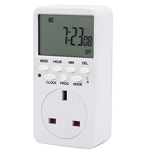 7 días Circular/apagado/interruptor automático Calculagraph Switch TM519 Interruptor de contador de tiempo para sincronización (enchufe británico)