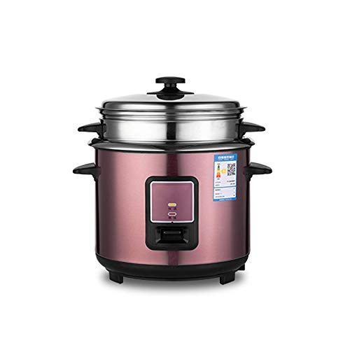 Fantastic Deal! Rice Cooker, Stainless Steel Steamer Anti-Dry Cooking Household Student Pot 3/4/5/6L...