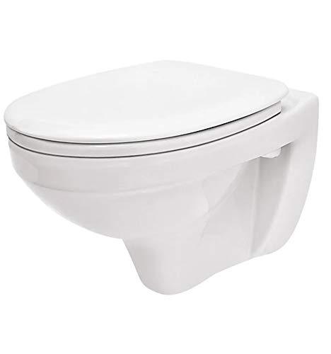 WC Toilette Hänge Wand WC (RosenStern) mit Soft-Close Deckel