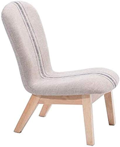ch-AIR Chair Solid Wood Stool, Shoe Change Stool, Modern Fabric, Small Sofa Back, Leisure Chair (Color : E),Colour:F (Color : A)