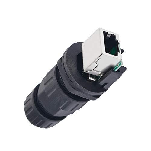 ADUCI 1pc Interfaz RJ45 IP68 Conector de Red Resistente al Agua Duradero Conectores eléctricos 10mm Agujero 8 núcleos for al Aire Libre Caja de Ap