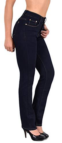 ESRA Damen Jeans Hose Damen Jeanshose gerader Schnitt Straight bis Übergrösse G400
