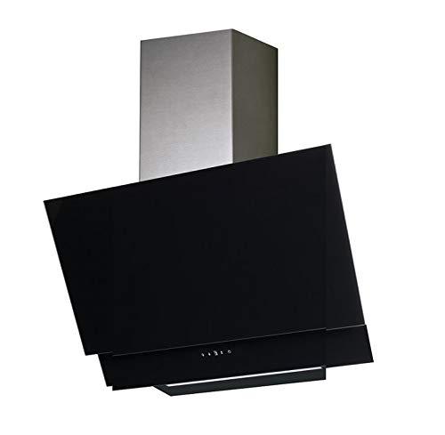 VLANO VALIO 600 XGBK EEK A+ Kopf-freie Dunstabzugshaube 60 cm schwarz Glas Design/Touch Control/ECO LED/Extra leiser Brushless Motor/Abluft/Umluft