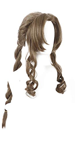 sale PWEINCY Aerith Gainsborough Cosplay Wig Long Curly 31 In stock Brown Inch