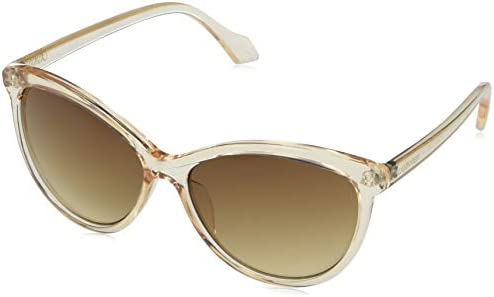 Calvin Klein Women s CK19534S Cat Eye Sunglasses Crystal Beige Brown 58 mm product image